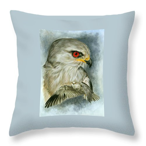 Kite Throw Pillow featuring the mixed media Velocity by Barbara Keith