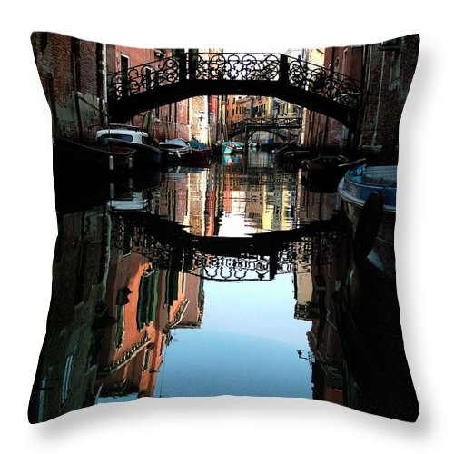Venice Throw Pillow featuring the photograph Venetian Delight by Donna Corless