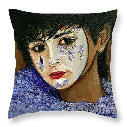 Italy Throw Pillow featuring the painting Venetian Girl The Beginning by Leonardo Ruggieri