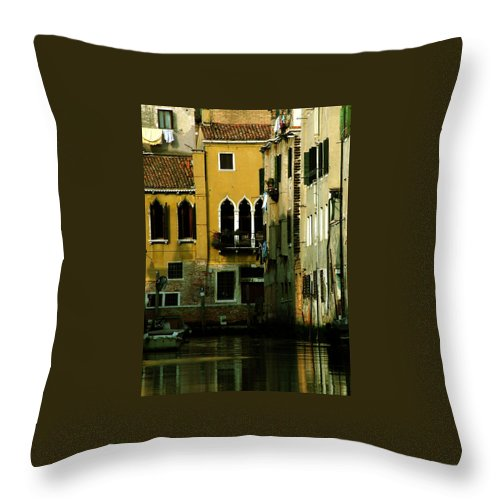 Venice Throw Pillow featuring the photograph Venetian Gold by Donna Corless