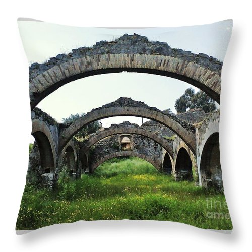Throw Pillow featuring the photograph Venetian Shipyard by Melina Mel P