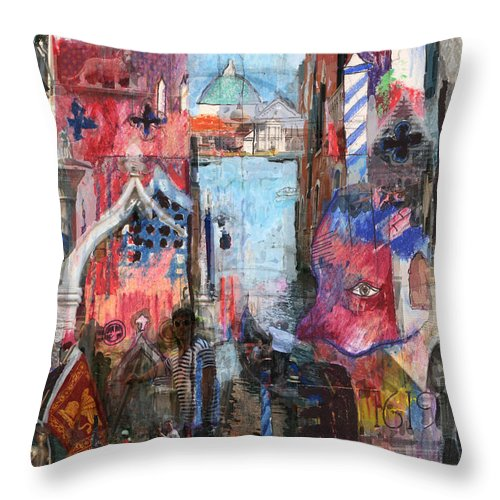 Venice Throw Pillow featuring the digital art Venice IIi by Andy Mercer