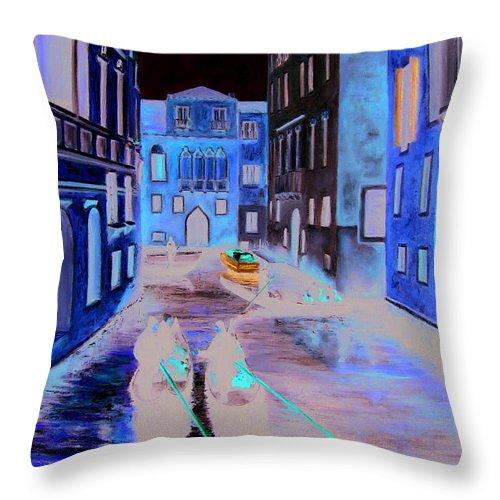 Italy Throw Pillow featuring the painting Venice by Leonardo Ruggieri
