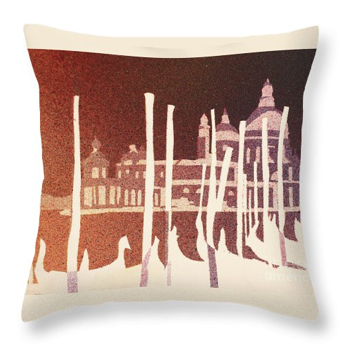 Art Venice Throw Pillow featuring the painting Venice Reversed by Ryan Fox