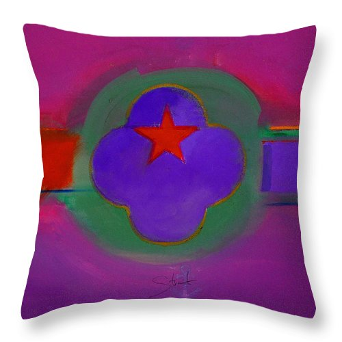 Star Throw Pillow featuring the painting Venice Spiritual by Charles Stuart