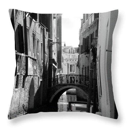 Venice Fascinator Venezia Italia Romantic Throw Pillow featuring the photograph Venice by Sylvie Art Riot