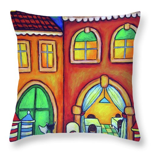 Venice Throw Pillow featuring the painting Venice Valentine II by Lisa Lorenz