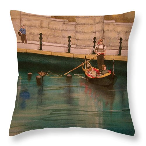 Providence Throw Pillow featuring the painting Venice Via Providence by Lynn Babineau