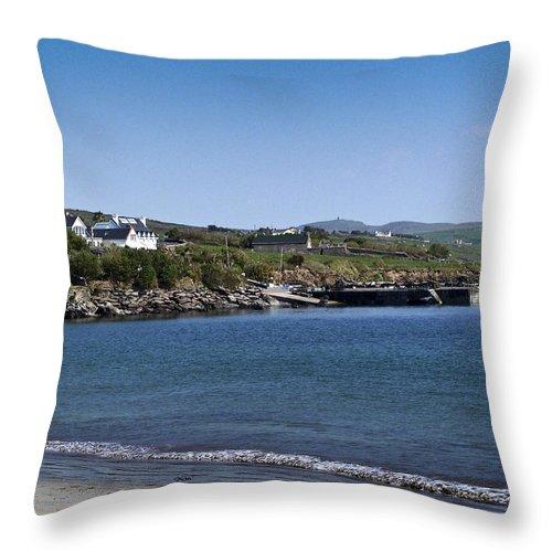 Irish Throw Pillow featuring the photograph Ventry Beach And Harbor Ireland by Teresa Mucha