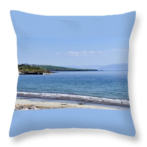 Irish Throw Pillow featuring the photograph Ventry Harbor On The Dingle Peninsula Ireland by Teresa Mucha