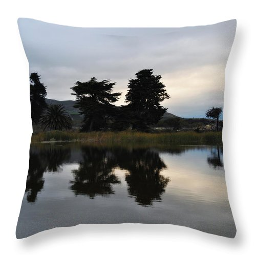 Ventura Throw Pillow featuring the photograph Ventura California Coast Estuary by Kyle Hanson