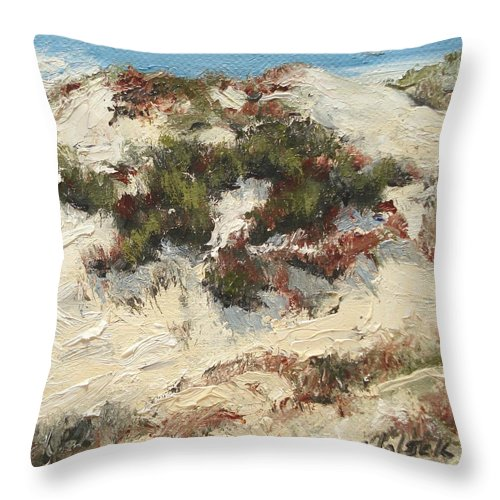 Water Throw Pillow featuring the painting Ventura Dunes I by Barbara Andolsek