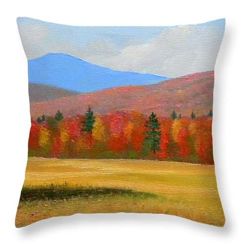 Autumn Throw Pillow featuring the painting Vermont Haven by Frank Wilson