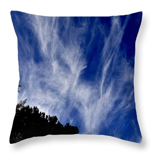 Clay Throw Pillow featuring the photograph Vertical Clouds by Clayton Bruster