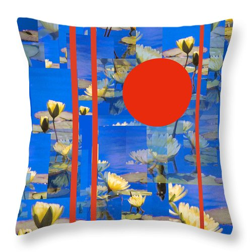 Flowers Throw Pillow featuring the photograph Vertical Horizon by Steve Karol