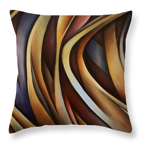 Painting Throw Pillow featuring the painting Verticle Design by Michael Lang