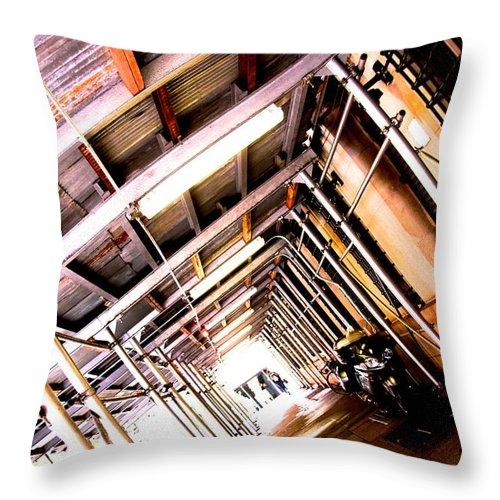 New York Throw Pillow featuring the photograph Vertigo by Joanna Seivard