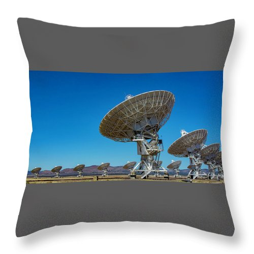 Very Throw Pillow featuring the photograph Very Large Array by Patrick Burke