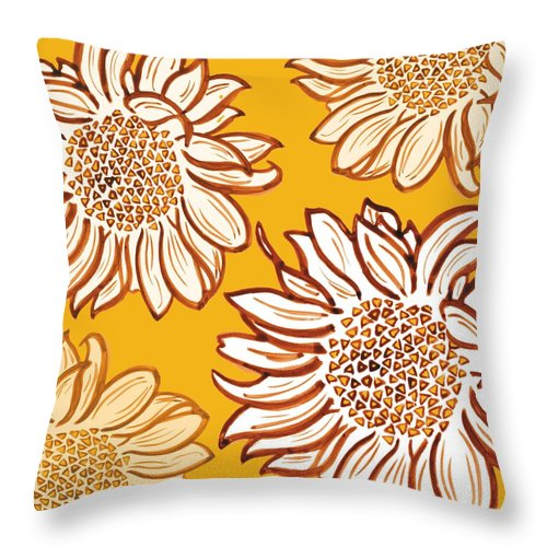 Vincent Throw Pillow featuring the digital art Very Vincent by Sarah Hough