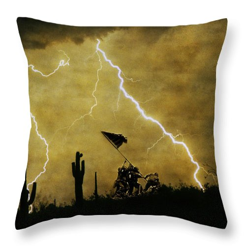 Veterans Throw Pillow featuring the photograph Desert Storm by James BO Insogna