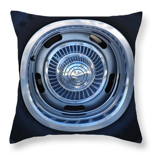 Corvette Throw Pillow featuring the photograph Vette Wheel by Rob Hans
