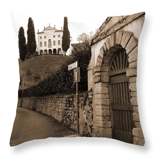 Via Fosse Throw Pillow featuring the photograph Via Fosse by Donna Corless