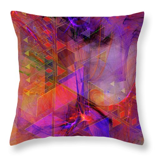 Vibrant Echoes Throw Pillow featuring the digital art Vibrant Echoes by John Beck