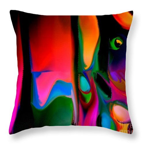 Abstract Throw Pillow featuring the digital art Vibrant by Robert Burns