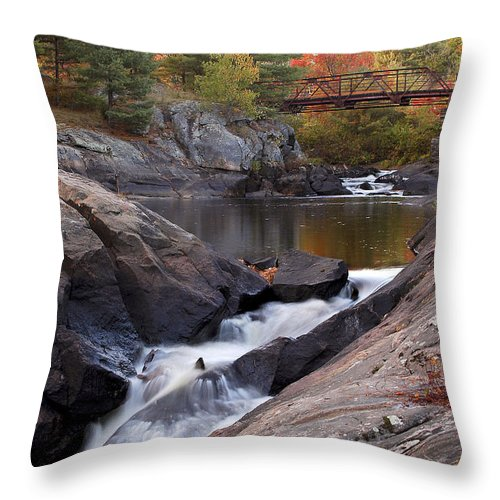 Water Throw Pillow featuring the photograph Victoria Falls by Linda McRae
