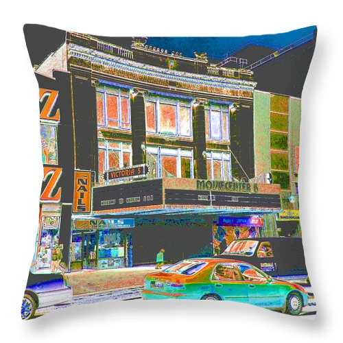 Harlem Throw Pillow featuring the photograph Victoria Theater 125th St Nyc by Steven Huszar