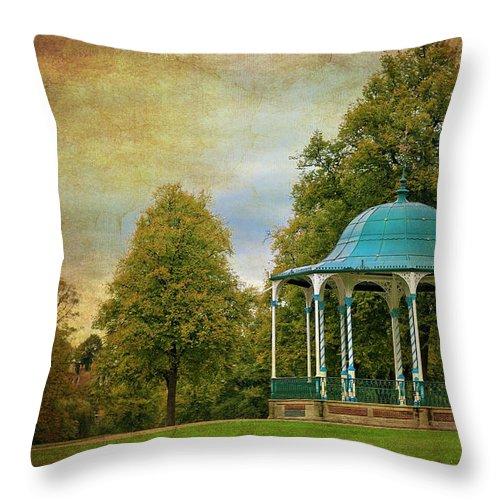 Victorian Throw Pillow featuring the photograph Victorian Entertainment by Meirion Matthias