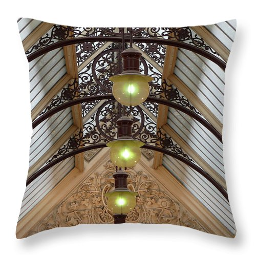 Melbourne Throw Pillow featuring the photograph Victorian Lights by PJ Boylan