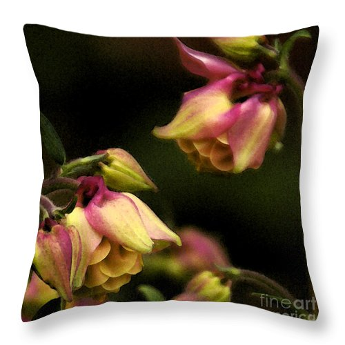 Flower Throw Pillow featuring the photograph Victorian Romance by Linda Shafer