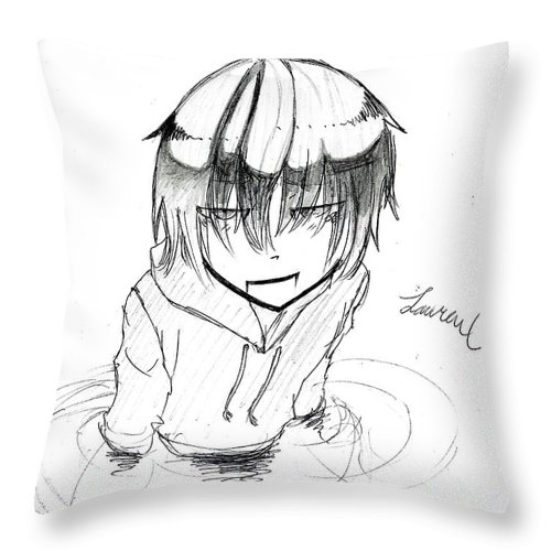 Akane Throw Pillow featuring the drawing Victory by Lauren Champion
