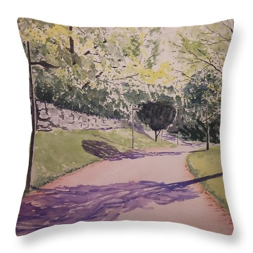 Watercolor Throw Pillow featuring the painting Vienna In Summer by Marko Ivancevic