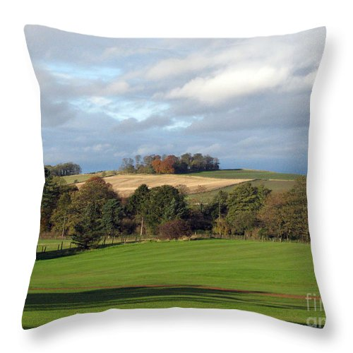 Scotland Throw Pillow featuring the photograph View At The Dalmahoy by Amanda Barcon