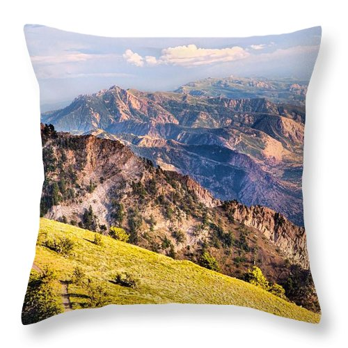 Utah Throw Pillow featuring the photograph View From Above by Roxie Crouch