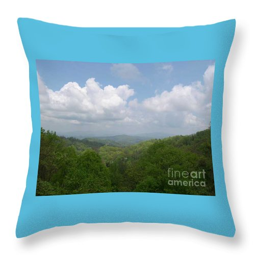 Mountains Throw Pillow featuring the photograph View From Ober Gatlinburg by Barb Montanye Meseroll