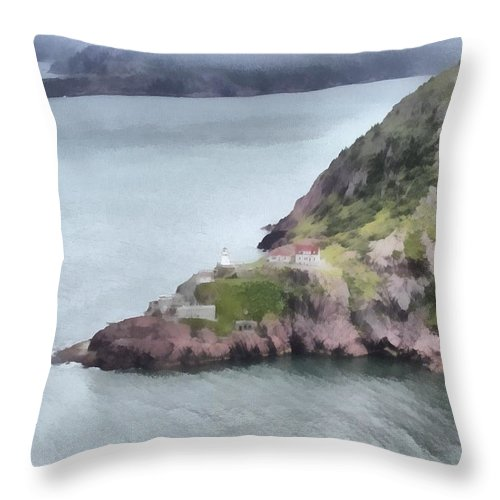 Canadian Throw Pillow featuring the painting View From Signal Hill by Jeffrey Kolker