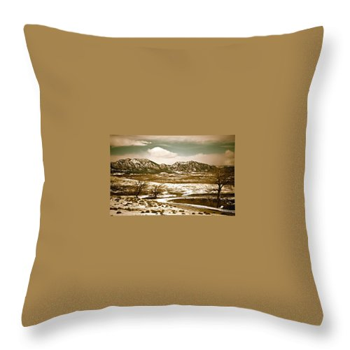 Landscape Throw Pillow featuring the photograph Flatironsview From Superior by Marilyn Hunt