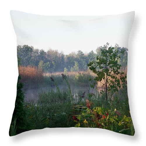 Nature Throw Pillow featuring the photograph View From The Path by Peggy King