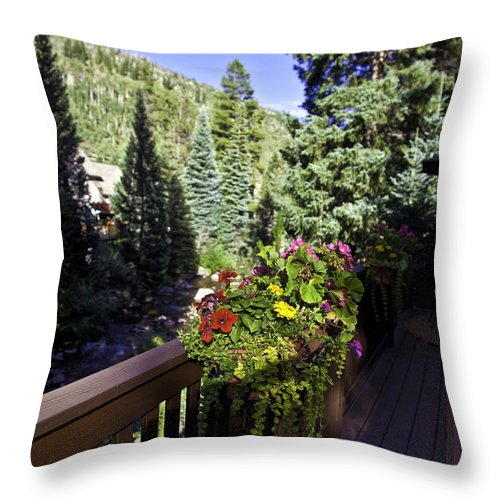 Vail Throw Pillow featuring the photograph View From Vail House by Madeline Ellis
