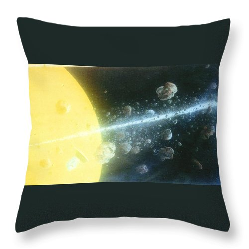Spacescape Throw Pillow featuring the painting View Master by A Robert Malcom