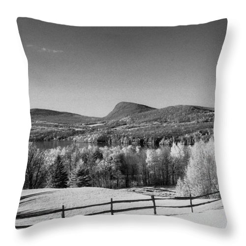 Landscape Throw Pillow featuring the photograph View Of Lake Willoughby by Richard Rizzo
