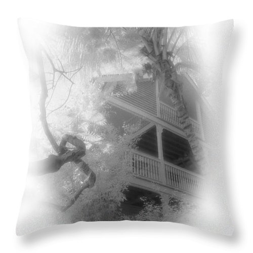 Balcony Throw Pillow featuring the photograph View Of The Balcony by Richard Rizzo