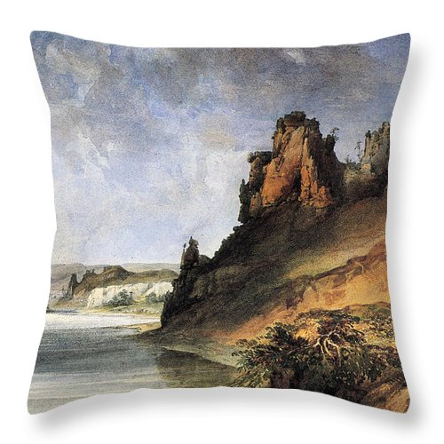 1830s Throw Pillow featuring the photograph View Of The Stone Walls by Granger