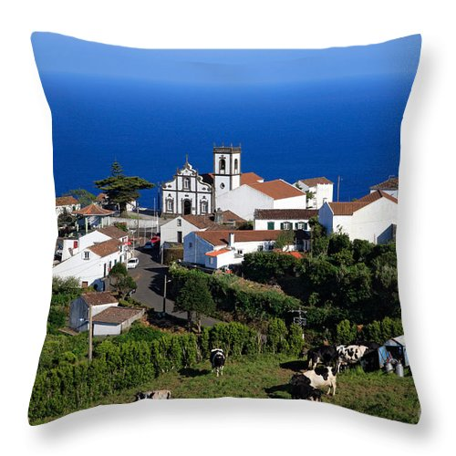 Azores Throw Pillow featuring the photograph Village In The Azores by Gaspar Avila