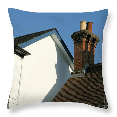 Rooftops Throw Pillow featuring the photograph Village Skyline by Ann Horn