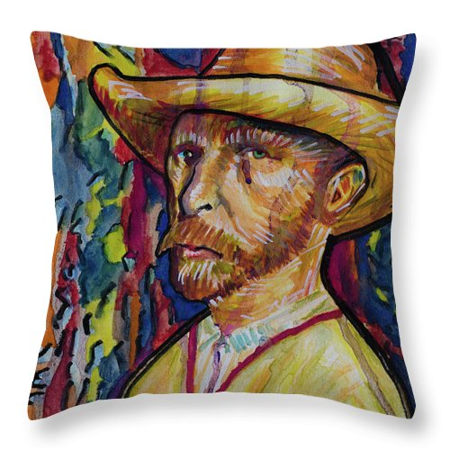 Vincent Throw Pillow featuring the painting Vincent by Robert Yaeger