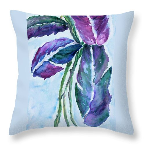 Landscape Throw Pillow featuring the painting Vine by Suzanne Udell Levinger